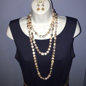 Jewelry - Multi strand coin pearl set